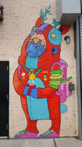 A graffiti mural in the Bushwick section of Brooklyn, New York.