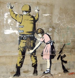 Banksy graffiti in Behtlahem, Pawel Ryszawa, Wikipedia Commons