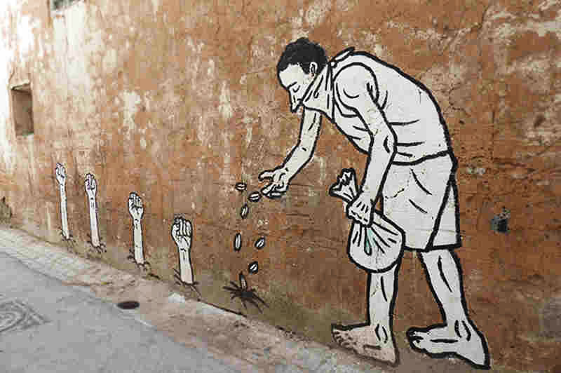 Unattributed graffiti art in Tunisia, possibly.